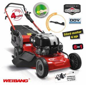 Sekačka WEIBANG WB 506 SBV DOV 6in1 RED LINE s pojezdem a 7 rychlostní variátorovou převodovkou