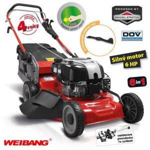 Sekačka WEIBANG WB 536 SBV DOV 6in1 RED LINE s pojezdem a 7 rychlostní variátorovou převodovkou